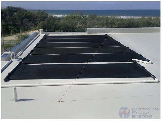 Black coloured solar heating panel