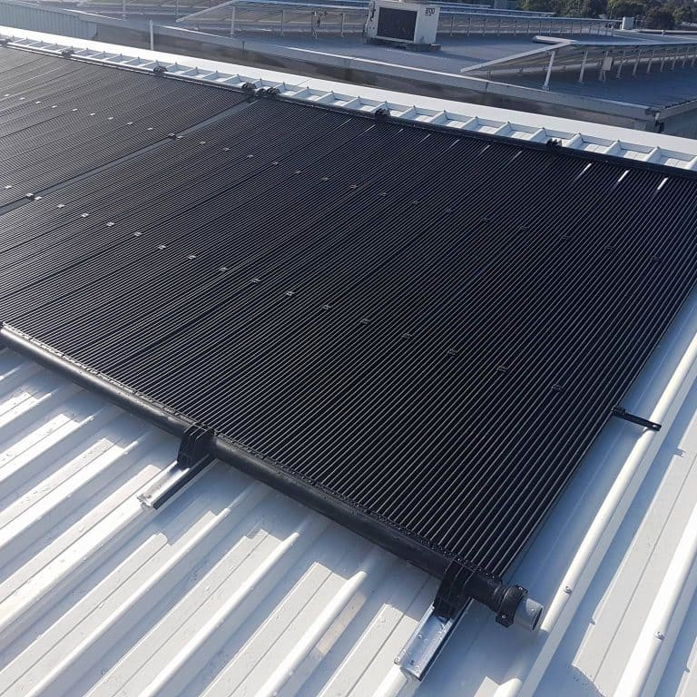 Black Solar Pannel attached on the Rooftop