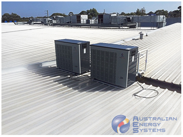 Dual Inverter Heat Pumps on Roof 1
