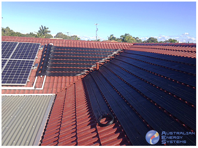 Solar Installation on Red Roof