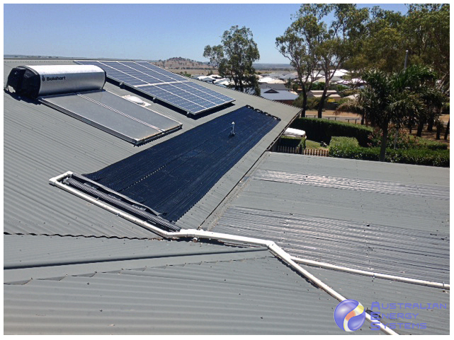 solar pool heating - roof instsallation