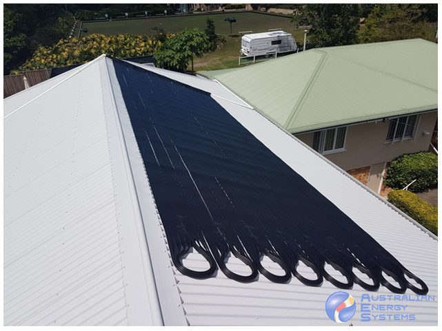 solar pool heating rooft top - mobile